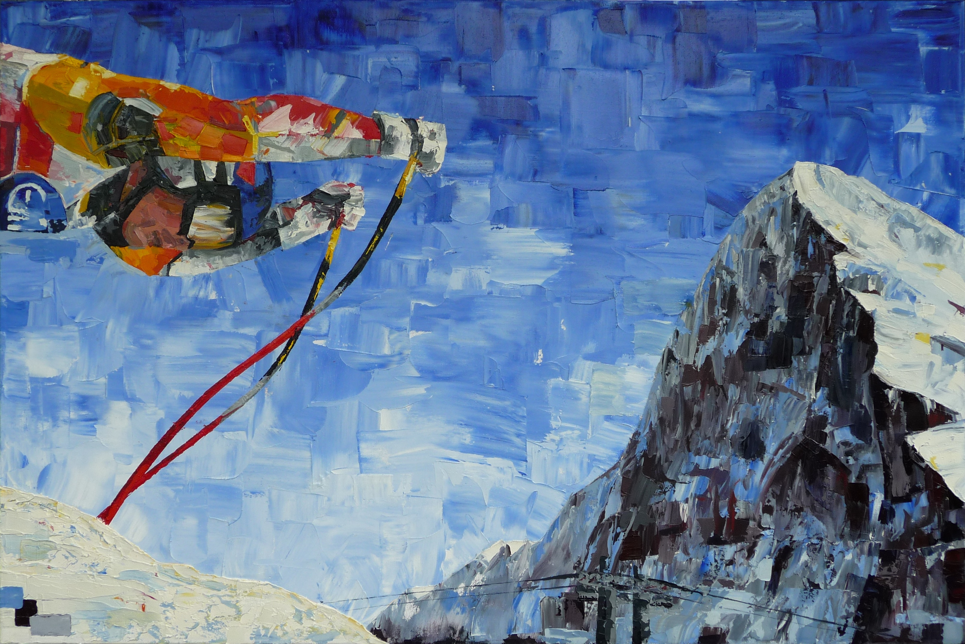 Eiger - 24X36 Oil on Canvas - Biggs 2013